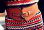 thumbnail 4 - Women Classic Super Wide Faux Leather Totem Print Elastic Stretchy Corset Belt
