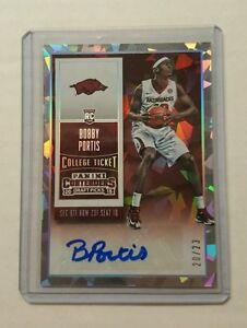 BOBBY-PORTIS-2015-16-PANINI-CONTENDERS-RC-AUTOGRAPH-CRACKED-ICE-23-VARIATION-SSP