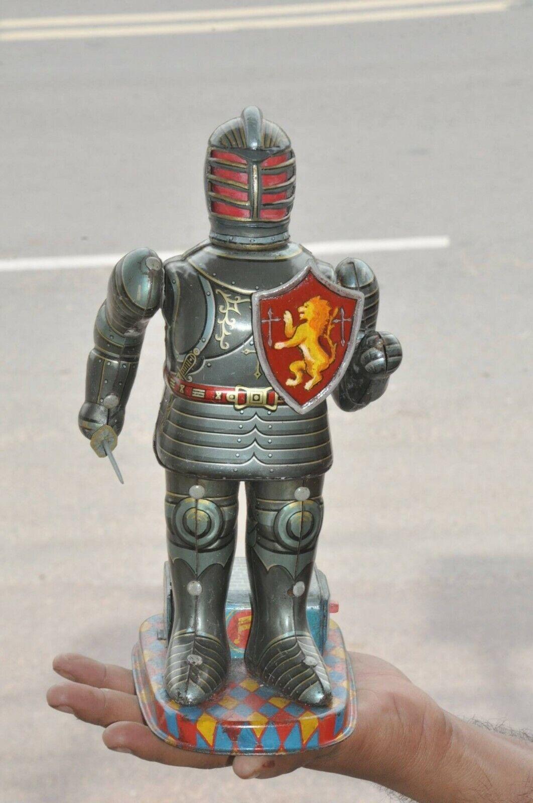 Vintage Alpes marca Batería Guerrero soldado Litografía Robot Juguete de hojalata, Japón