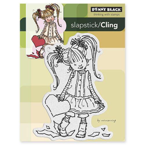 New Penny Black HER HEART Slapstick Cling Girl Child Kid Valentine/'s Love