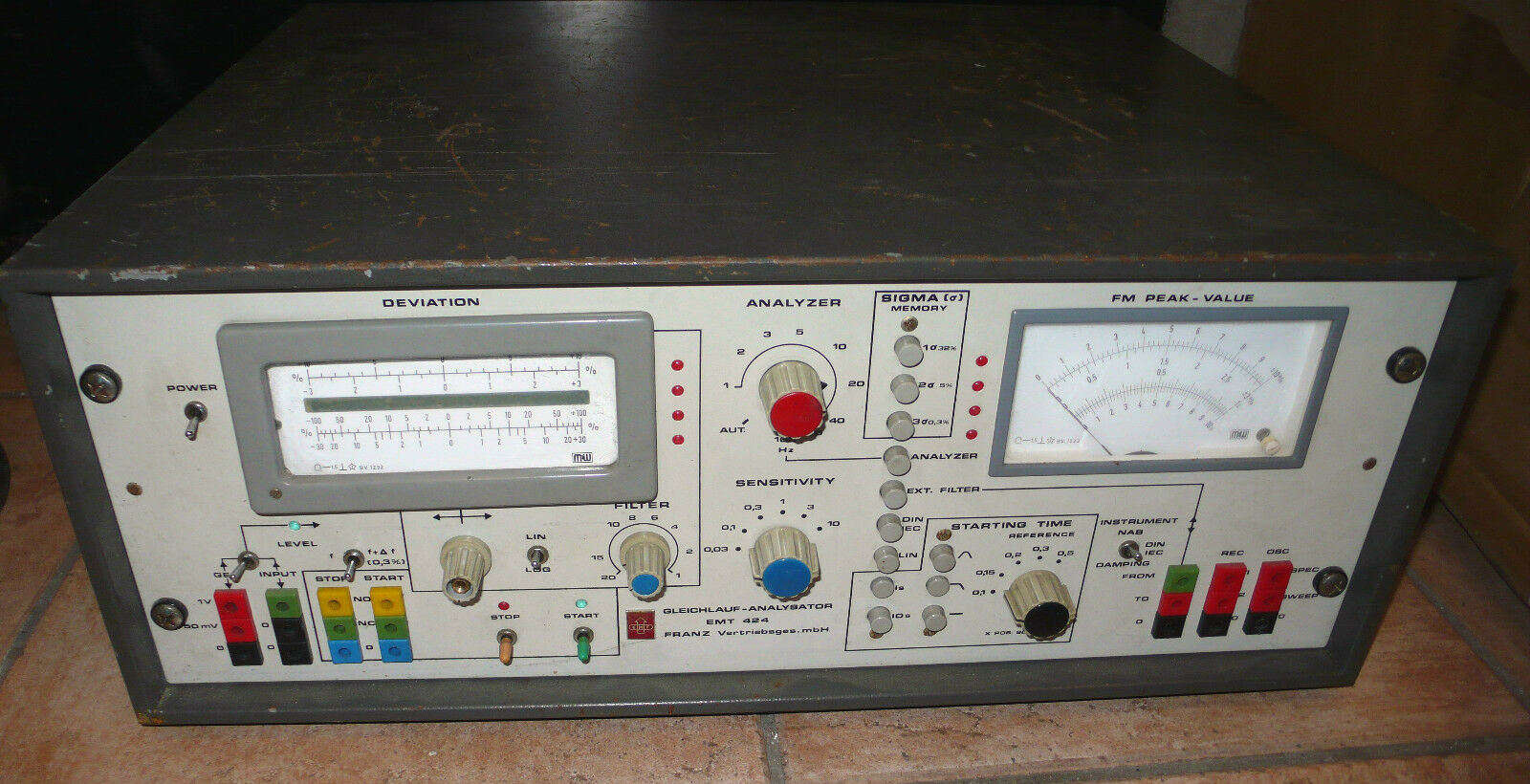 EMT 424 wow & flutter meter   pleurage et scintillement COLLECTION   RARE