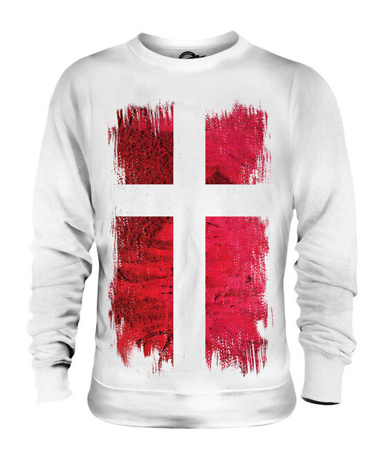 DENMARK GRUNGE FLAG UNISEX SWEATER TOP DANMARK FOOTBALL DANISH GIFT SHIRT