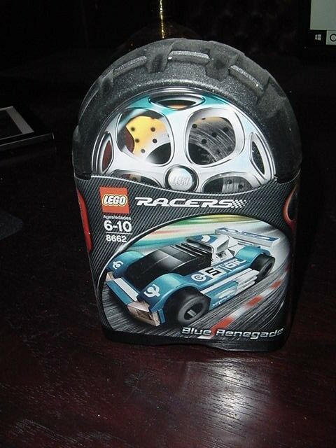 New Sealed LEGO Racers 8662 bluee Renegade 49 Piece Construction Set-Free Ship