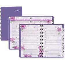Beautiful Day Desk Weeklymonthly Appt Book 5 12 X 8 12 Purple 2014