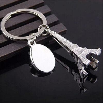 1x Zinc Alloy Eiffel Tower French Souvenir Paris Keychain Keyring  Chain Ring ST