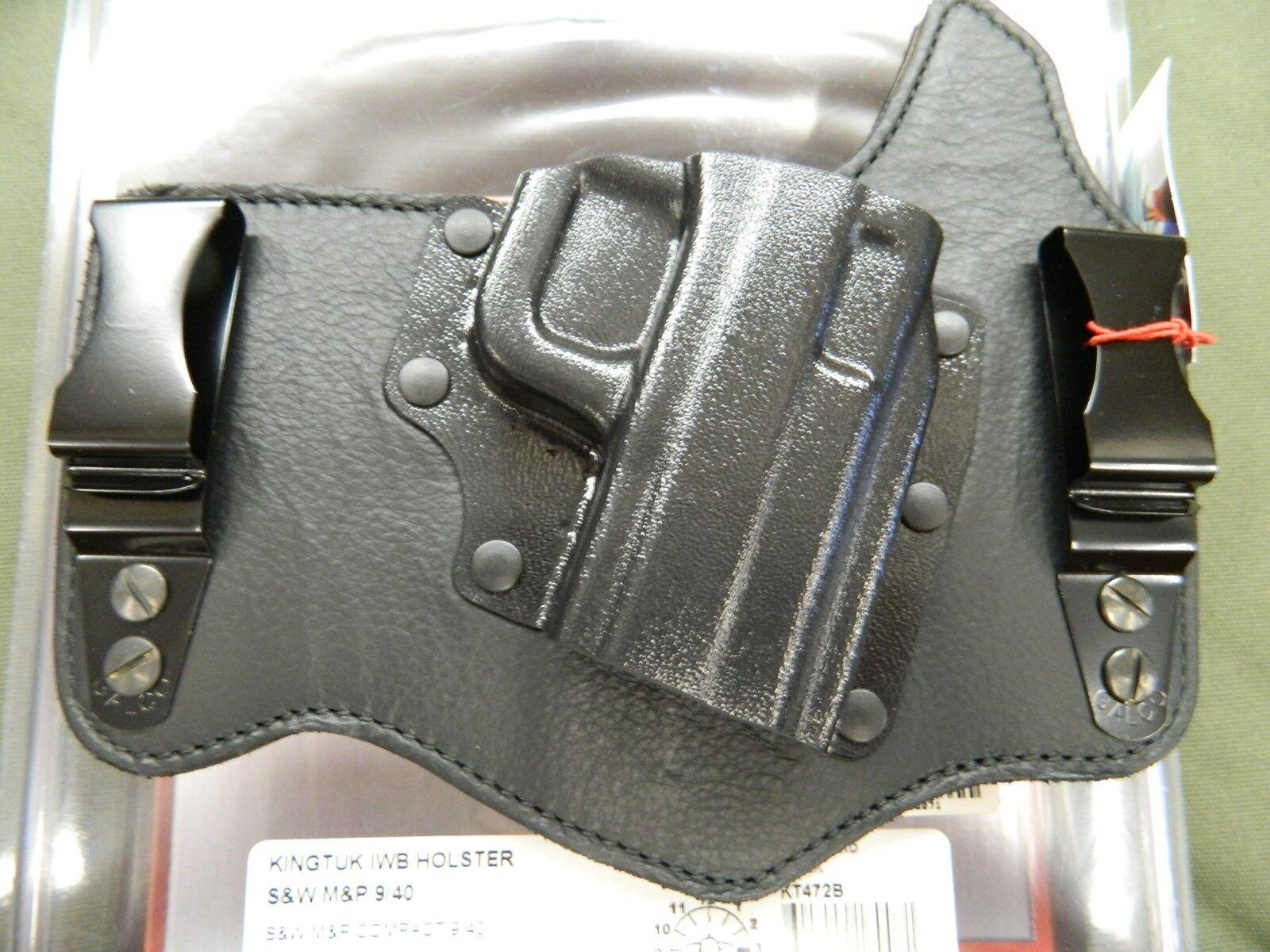 Galco kingtuk Exhibición Funda de Smith & Wesson M & P Compacto KT472B Negro RH