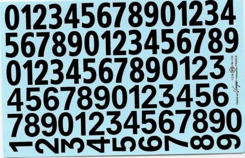 Decalbogen los números de inicio negro 1:18-1:24 189