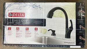 DELTA-Shiloh-Single-Handle-Pull-Out-Sprayer-Kitchen-Faucet-19790Z-BLSD-DST