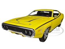 1971 PLYMOUTH SATELLITE DUKES OF HAZZARD YELLOW 1/18 BY AUTOWORLD AWSS105