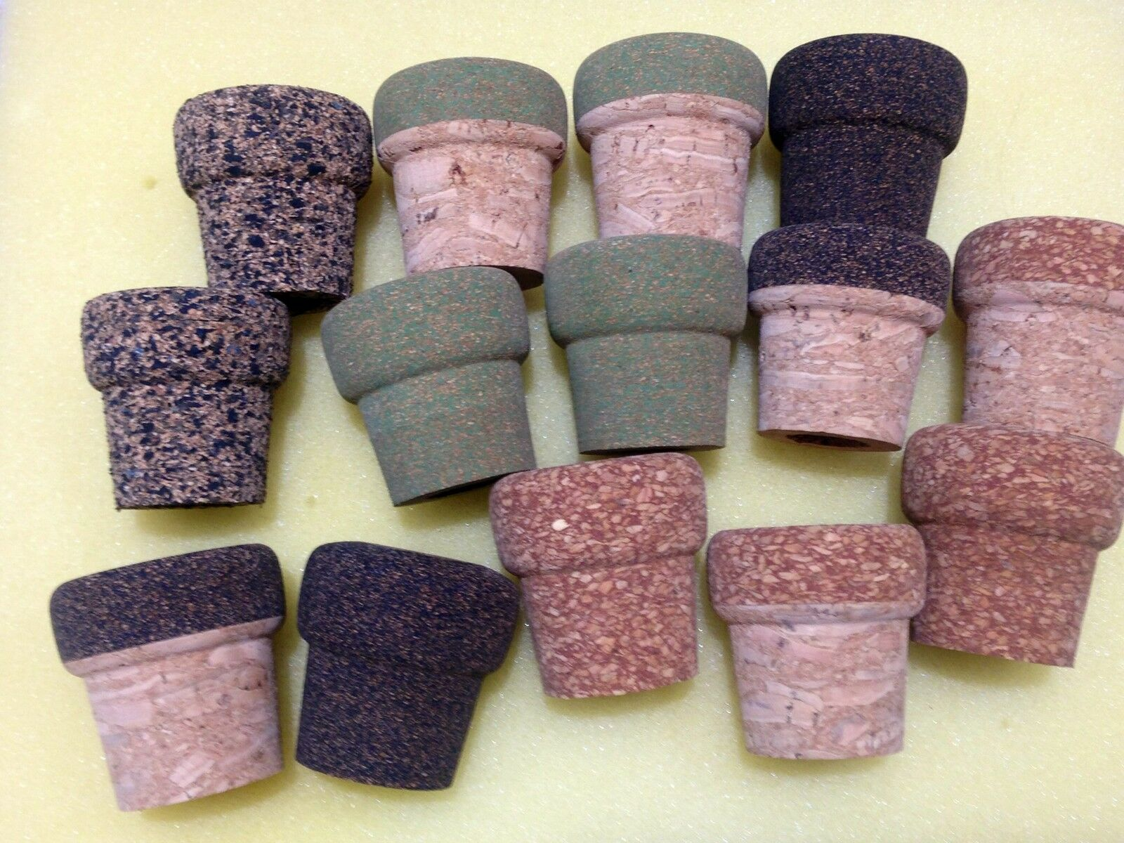 CORK RINGS  ASSORTED LARGE BUTT CAP    END CAP,14 CAPS 2 EACH STYLE   SAVE   shop makes buying and selling