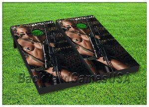 Cornhole Boards W Bags Sexy Us Military Army Camo Corn