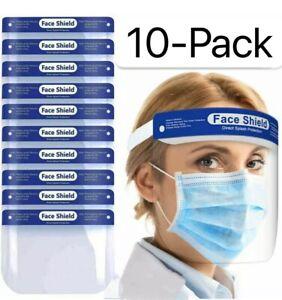 15 PCS Safety Full Face Shield Reusable Protection Cover Face Eye Cashier Helmet