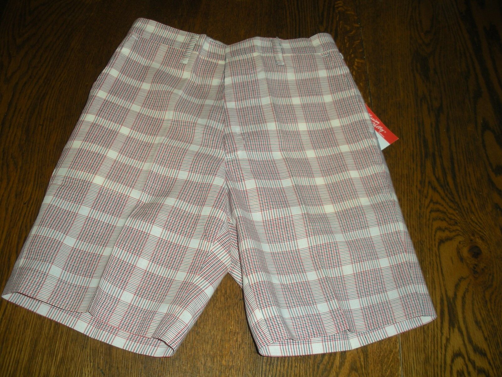 vintage boy's plaid shorts hipster 26 waist permanent press New old stock 60's