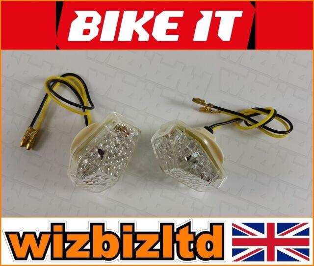Bikeit E-Geprüft Led Verkleidung Stecker Suzuki 2001> Blinker Klarglas Indled16