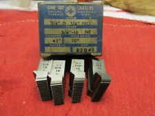 """Geometric Chasers for 3/4"""" D DS DSA Die Head 1/4"""" to cut 3/4""""-16 NF"""