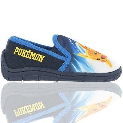 Chicos Oficial Pokemon ir Resbalón en Zapatillas Zapatos Tallas 6-2 Niños Regalo Nuevo