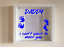 IKEA RIBBA Box Frame Personalised Vinyl Wall Art Quote Daddy Baby Fathers Day