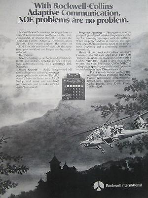 4//1980 PUB HUGHES YAH-64 APACHE US ARMY ATTACK HELICOPTER HELLFIRE ORIGINAL AD