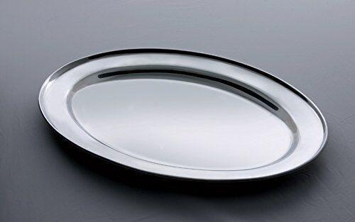Salvinelli 4338PRO Tablett oval Edelstahl 40 x 27 cm Serviertablett