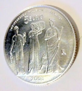 Pièce de 5 euros en argent 70 000 ex de  San Marin 2003 sortie du coffret bu
