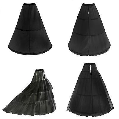 Ben Informato Crinolina Petticoat Sottoveste Nero Con 2 - 3 Anelli Mis. 32 - 58 Lafairy Nuovo De-mostra Il Titolo Originale