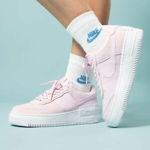 Nike Air Force 1 Wmns Shadow Pink Foam White Pistachio Frost Cv3020 600 Beige Ebay