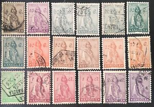 Angola-1932-Ceres-new-Mi-234-35-237-39-241-243-44-246-248-U-FU-Lot-of-18