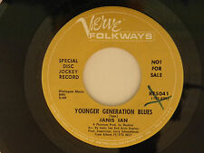 Janis Ian 45 Younger Generation Blues / Give You A Stone...~ VG+