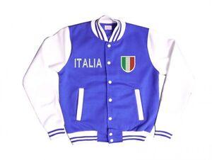 Details Zu College Jacke Italia Italien Wappen Fussball Sweatjacke Sweatshirt Weltmeister