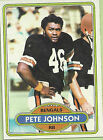 1980 Topps Pete Johnson #153 Football Card