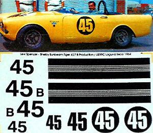 Shelby-Sunbeam-Tigre-427-B-Usac-1966-45-1-43-Autocollant-Decalcomanie