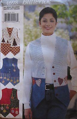 4698 Vintage Butterick Sewing Pattern Misses Seasonal Vest Xs-l Uncut Oop Sew Ff Genezen Van Hoest En Het Verlichten Van Slijm En Verlichten Heesheid