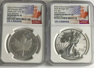 2019-W-1-amp-5-SILVER-REVERSE-PROOF-NGC-PF70-ER-PRIDE-OF-TWO-NATIONS-2-COIN-SET