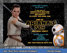 Star Wars Rey birthday party invitation personalized U PRINT printable