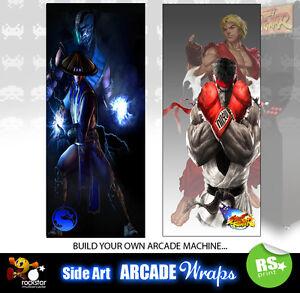 Details about Mortal Kombat Street fighter Arcade Side Artwork Panel  Stickers Graphics