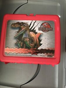Vtg-JURASSIC-PARK-3-LUNCHBOX-MOVIE-COMPLETE-WITH-THERMOS-Aladdin
