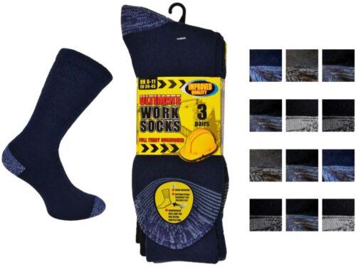 6 Mens ERBRO® Cotton Rich HARD WEARING Ultimate Work Socks UK 6-11