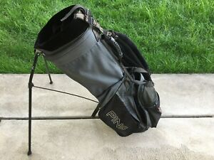 Details About Ping Golf Hoofer 2 Stand Bag Black Grey Sewn Usa Flag Logo West Chester Cc Vguc