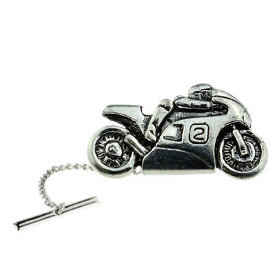 XWTT056 Bicycle Bike Cycle Pewter Lapel Tie Tac