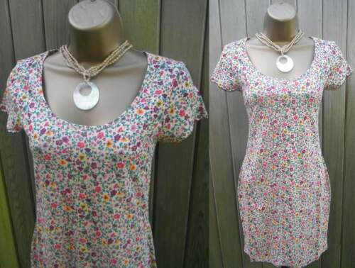 Ladies Stretchy Floral Tunic Top Dress Size 8 10 12 14