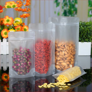 Image Is Loading Frosted Clear Ziplock Bags Plastic Food Grade Reclosable
