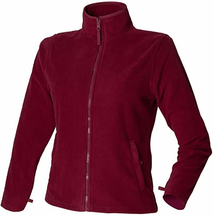 Henbury H851 Ladies Microfleece Jacket - Burgundy XXL