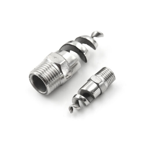 """1//4/"""" 1//2/"""" Stainless Steel Spiral Cone Atomization Spray Nozzle Sprinkler HeadZS"""