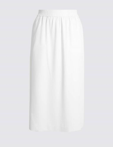 M/&S Winter White Column Midi Skirt 8//16//18//20//22 RRP £25