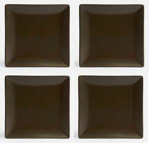 4X-Square-dinner-plates-chocolate-26cm-stoneware-porcelain