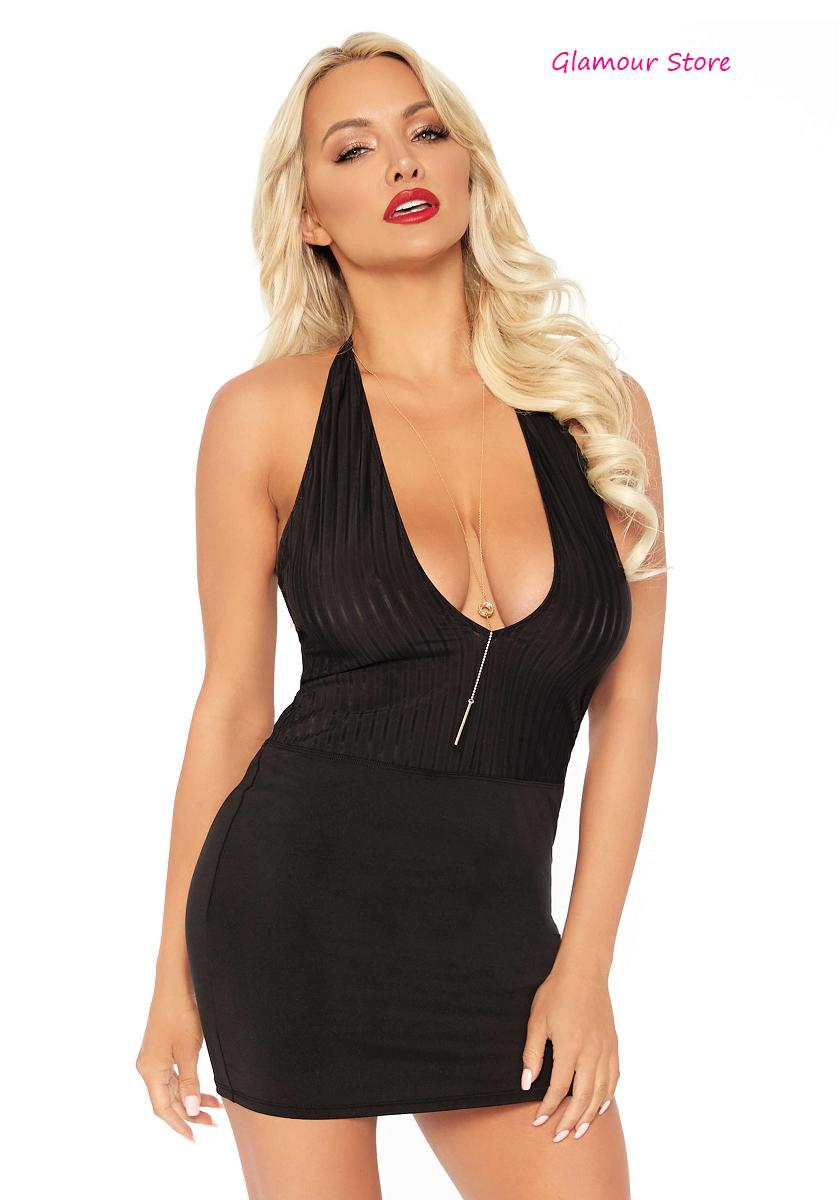 Sexy Abito Vestito schwarz Scollato Aderente Spalle Scoperte Fashion GLAMOUR