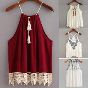 Mujer-Bordado-Camisetas-De-Tirantes-Sin-Mangas-Elastico-Blusa-Camisola