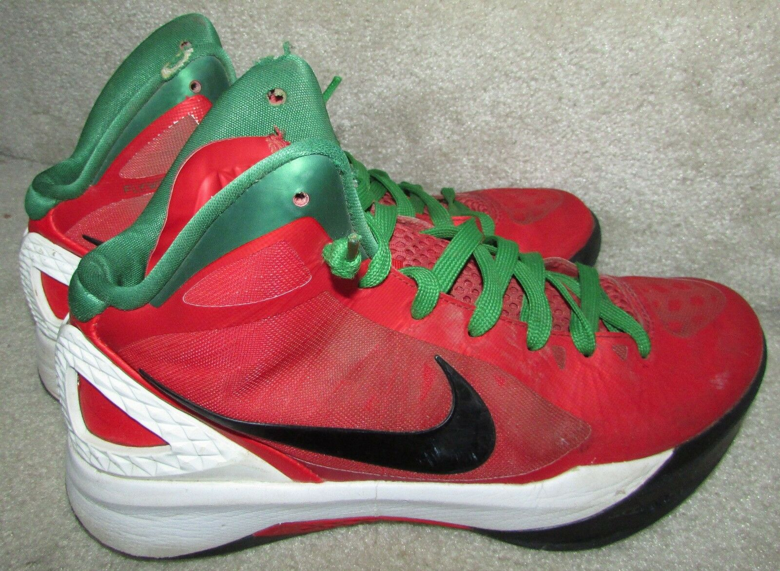 NIKE Zoom Hyperdunk Challenge Red/Black-White-Pine Green 454138-600 Comfortable Cheap and beautiful fashion