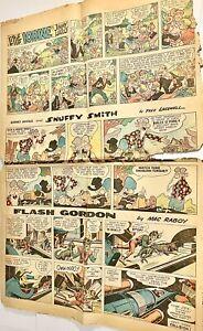 Vintage-Sunday-Comics-Flash-Gordon-Lone-Ranger-Popeye-1963-FULL-SIZE-Full-Color