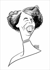 Al-Hirschfeld-039-s-ELEANOR-ROOSEVELT-Hand-Signed-Limited-Edition-Etching